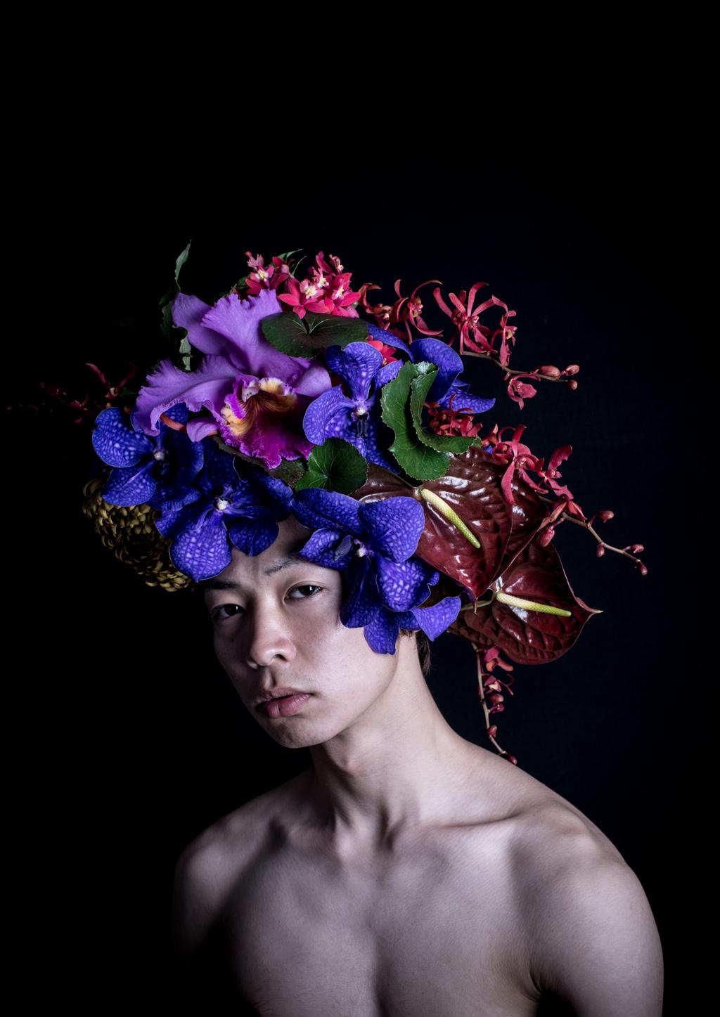 Дизайн цветов из ткани на головные уборы